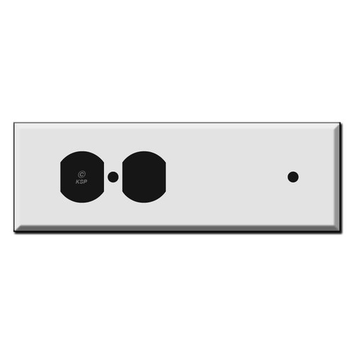 Long Tandem Blank + Duplex Outlet Receptacle Cover Plates