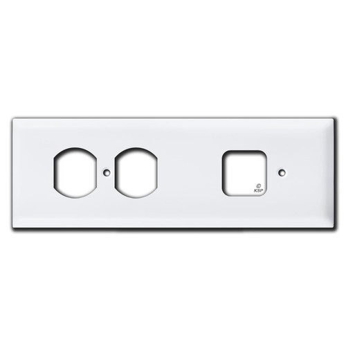 Side by Side Horizontal Box Covers for Old Outlets