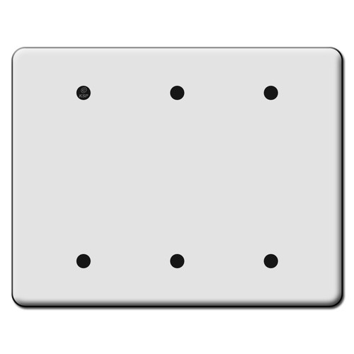 Tall 3 Blank Switch Plate Covers