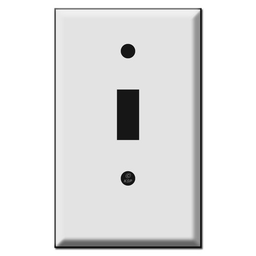 Short toggle switch plate cover.