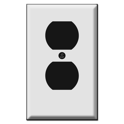 Short Outlet Cover Plates for Duplex Receptacle