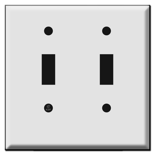 Short 2 Toggle Light Switch Cover Plate