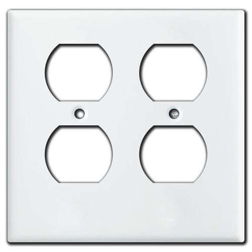 Cover duplex outlets against trim or tile.