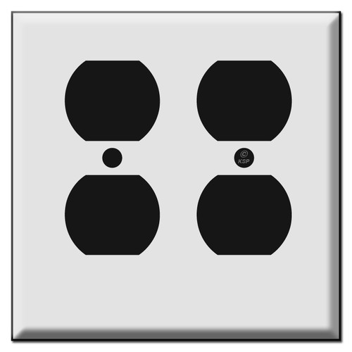 Short 2 Duplex Outlet Cover Plates