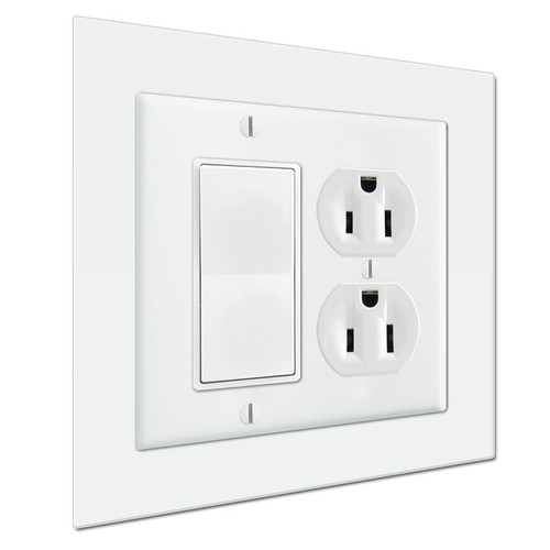 """Jumbo 6"""" x 6"""" Light Switch Wall Plate Expander To Extend Cover Size"""