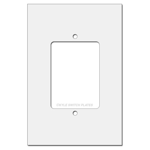 Expands wall coverage of single gang switch plate.
