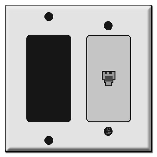 Rocker Switch and Phone Jack Cover Plates