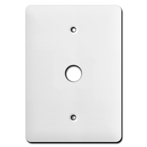 Taller Wider White Cable Jack Cover
