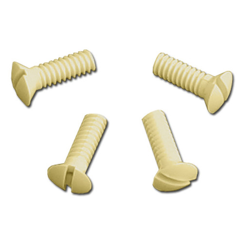 Ivory Plastic Screws for Wall Switch Plate Covers