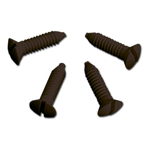Brown Plastic Screws for Wall Switchplate Covers