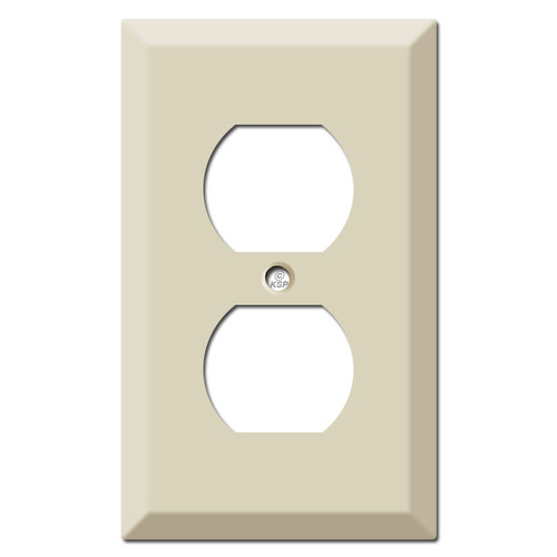 Deep Raised Duplex Outlet Cover Plate - Ivory