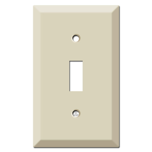 Raised 1 Toggle Switch Plate - Ivory