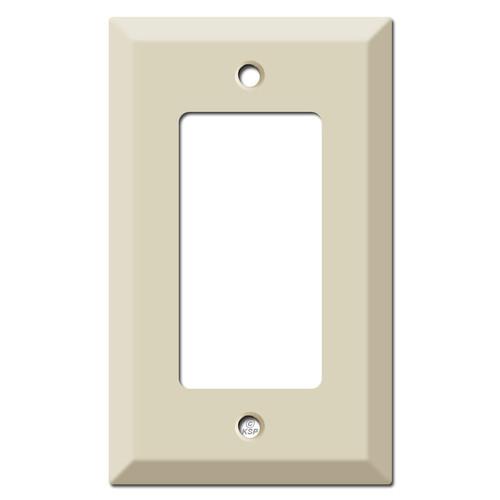 Deep Raised 1 Decora Rocker Light Switch Cover - Ivory