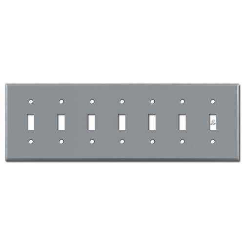 7 Toggle Light Switch Cover - Gray