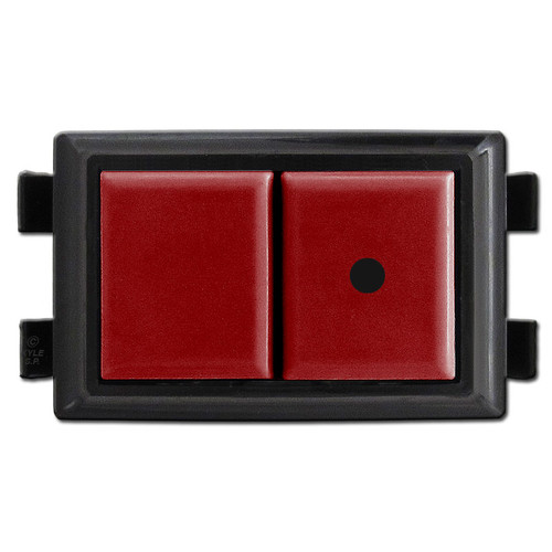 Red Low Voltage Pilot Light Switch GE RS239P