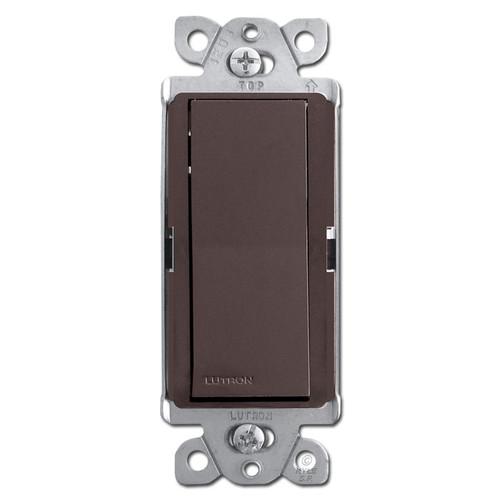 Designer Rocker Light Switch - Brown
