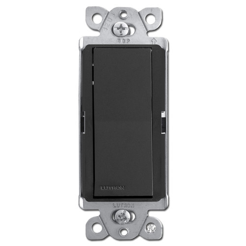 Designer 3-Way Rocker Light Switch - Black