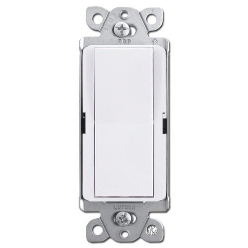 Designer 4-Way Rocker Light Switch - White