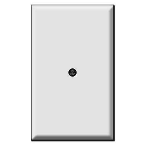 Specialty 1 Blank Wall Switch Plate Covers with Center Screw Hole