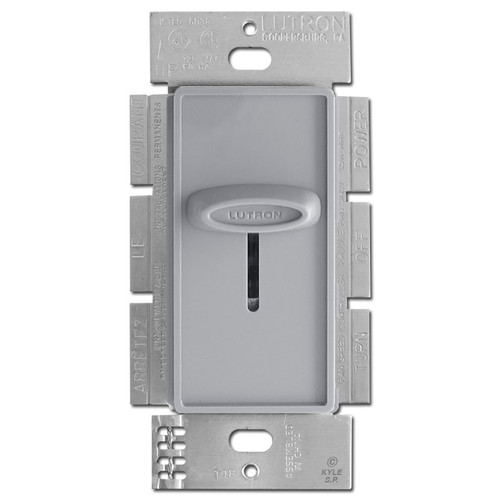 Decorator Gray 3-Speed Fan Switch Control Lutron Skylark