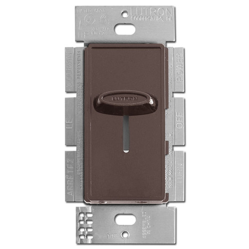 Decorator Brown Fan Control Switch 3-Speed Lutron Skylark