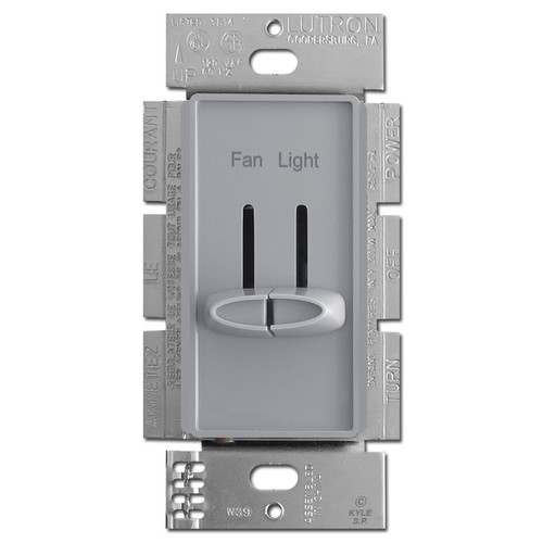 Gray Dual Fan Control Light Dimmer Switches Lutron Skylark