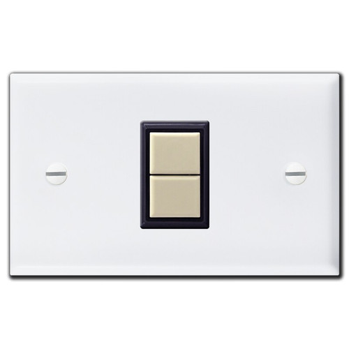 1 GE Low Voltage Light Switch & White Wall Plate Cover