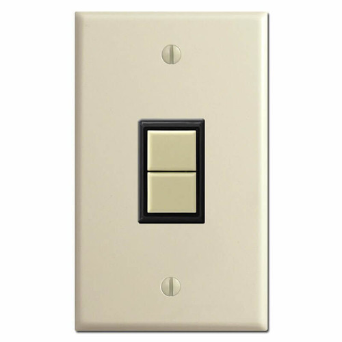 Upright 1 GE Low Voltage Switch Plate & Replacement Switch - Ivory
