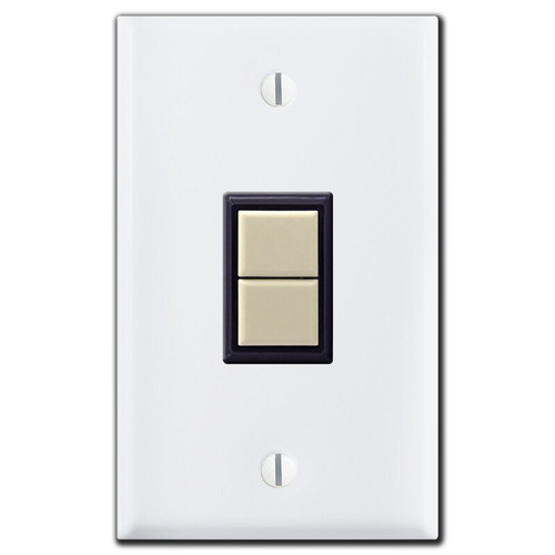 1 GE Low Voltage 1 Switch & White Vertical Wall Plate Covers