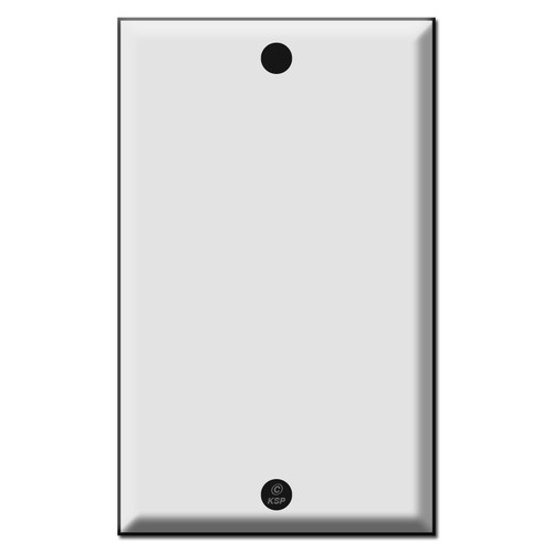 """Specialty Blank Outlet Cover Plates - Strap Mount Screw Holes 3.81"""""""