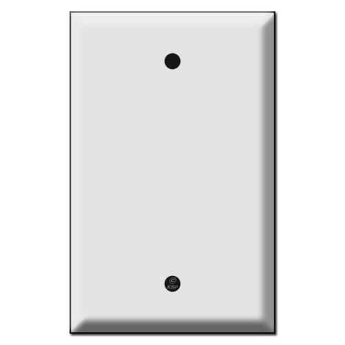 """Special Jumbo Blank Outlet Cover - Strap Mount Screw Holes 3.812"""""""
