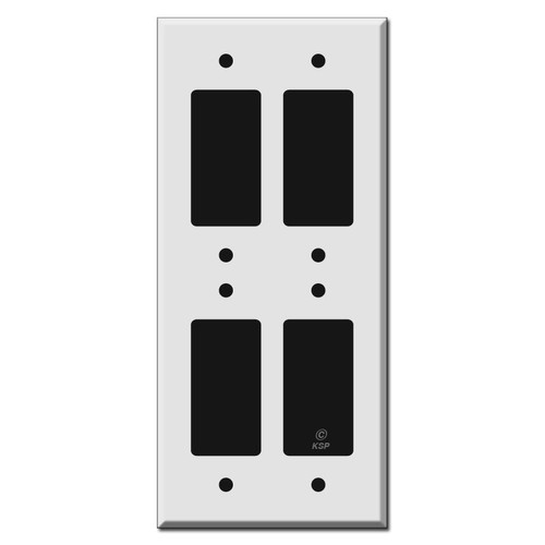 Tandem Double 2 High 4 Decora Rocker GFCI Switch Plate Covers