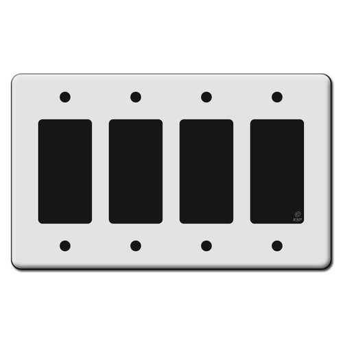 Tall 4 Rocker GFCI Switch Plate Covers