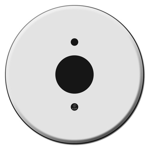 "Circular Outlet Cover Plates for 1.375"" Round Receptacles"