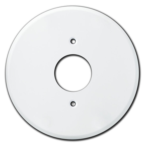 Round Opening - Round White Outlet Cover