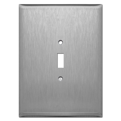 "Ultra Jumbo 7.5"" High 1 Toggle Light Switch Cover - Stainless Steel"