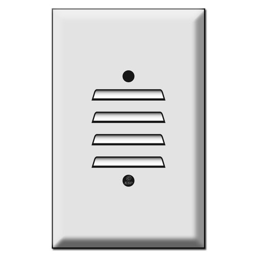 Oversized Vertical Louvered Wall Plate Cover