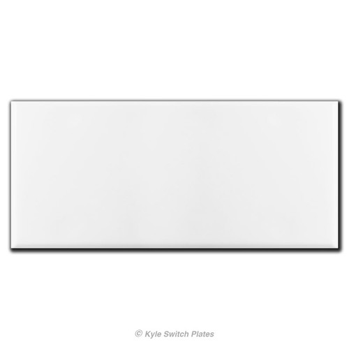 5 Gang Totally Blank No Hole Wall Switch Plate - Satin Stainless Steel