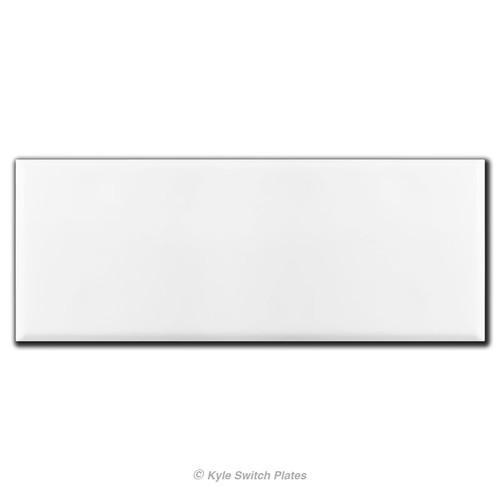 White 6 Gang All Blank Wall Plates with No Openings
