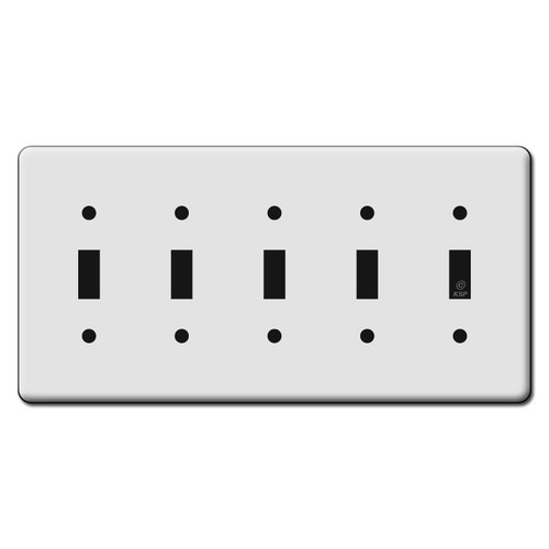 Tall 5 Toggle Switch Plate Covers