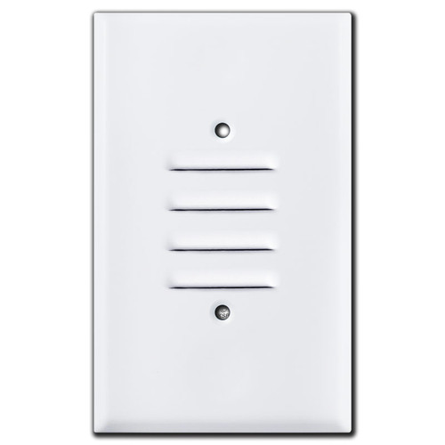Jumbo Vertical Slotted Louver Wall Plate Cover - White