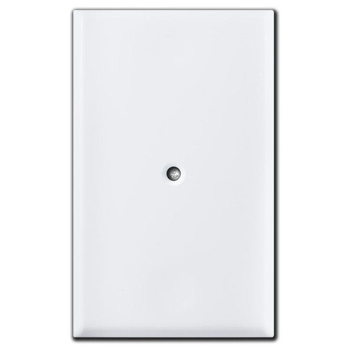 Specialized Center Screw Blank Outlet Cover Plate - White