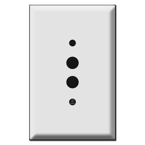 Oversized 1 Push Button Light Switch Covers