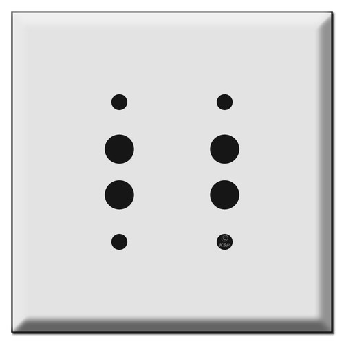 Jumbo 2 Push-Button Light Switch Plates