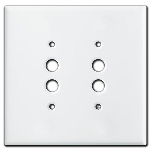 Double Antique Push Button Covers