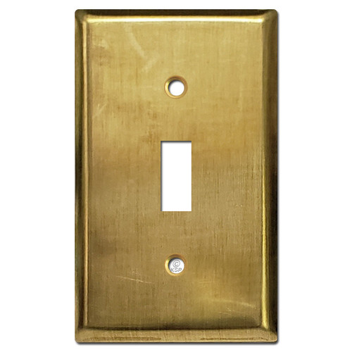 1 Toggle Light Switch Plates - Unfinished Raw Brass