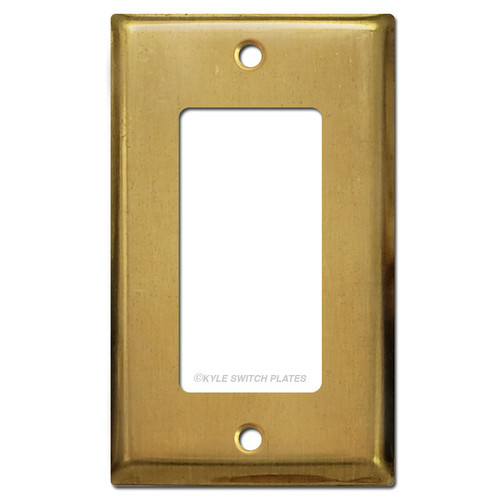 1 Rocker Decora GFI Outlet Cover Plate - Unfinished Raw Brass