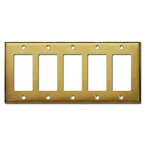 5 Decora Rocker GFI Switch Cover Plate - Raw Satin Brass
