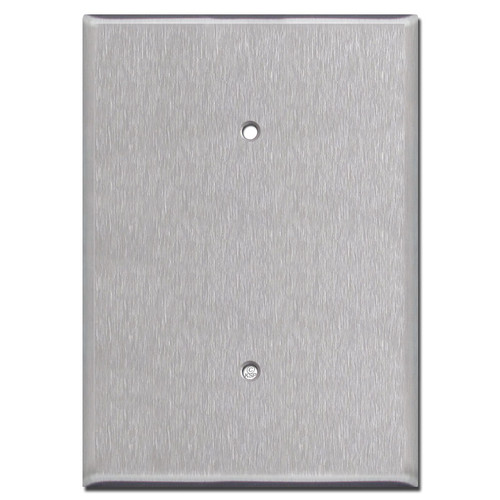 "Extra Oversized Blank Electrical Cover 6.38"" Tall - Stainless Steel"