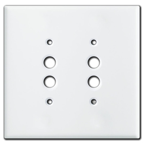Oversized Double Pushbutton Switch Plate - White